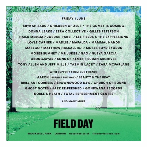 Moses Sumney is the latest name added to Field Day 2018